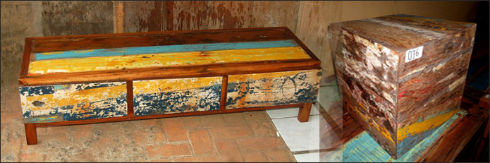 Bali Recycled Recycling Boat Furniture K amp Fax Jaya 8 Wholesale And Export From